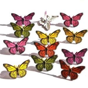 12 Butterfly Brads