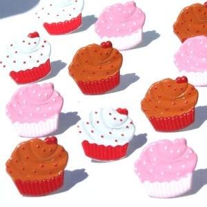 12 Cupcake Brads