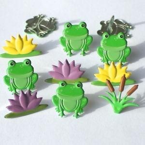 12 Frog Mix Brads