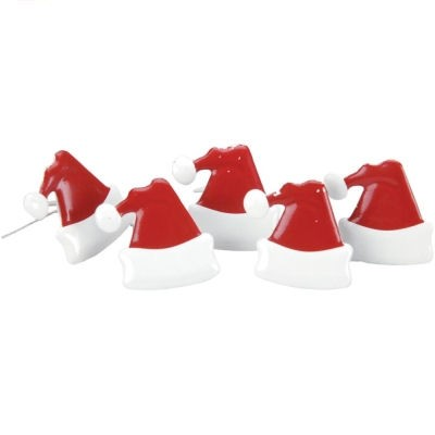 12 Santa Hat Brads