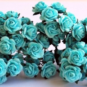 10 Lovely Blue Roses, 10mm