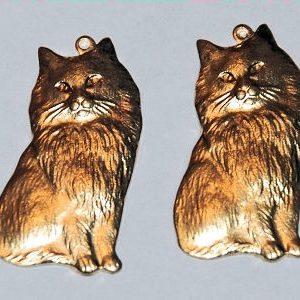 Katze sitzend - 2 Stk.