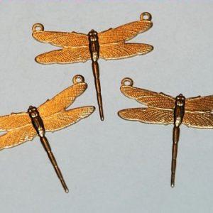 Libelle mit 2 Ösen - 3 Stk.