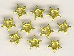 """10 Eyelets """"Star"""" - Citrine"""