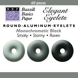 60 Bazzill-Eyelets Black