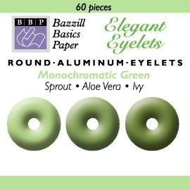 60 Bazzill-Eyelets Green