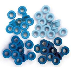 60 Eyelets - Blue - 8mm
