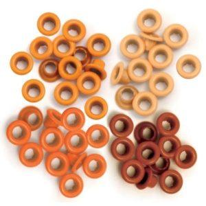 60 Eyelets - Orange - 8mm