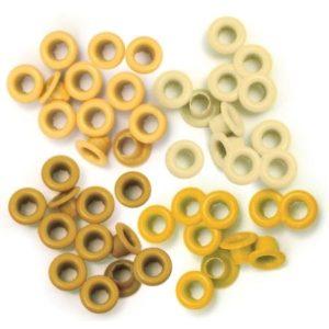 60 Eyelets - Yellow - 8mm