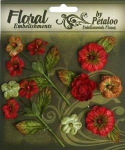 VelvMini Blossoms - Red
