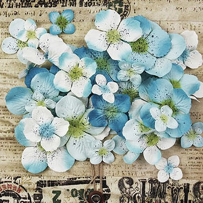 Painterly Petals Baby Blue