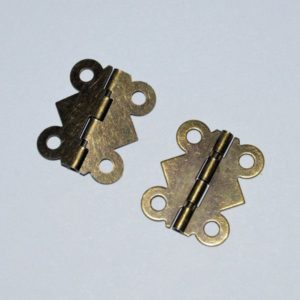 Antique Brass Hinges 20mm (2 Stk.)