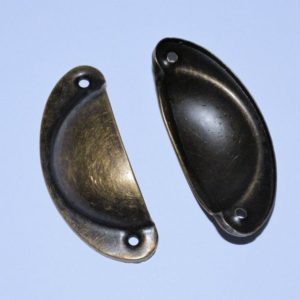 Antique Brass Pull Handles 82mm (2 Stk.)