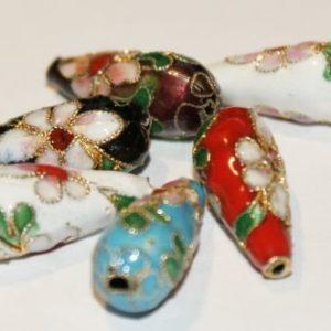 Cloisonne - Drop Beads - 5 Stk.