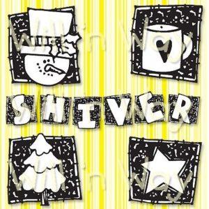 "Shiver Squares, 4x4"""
