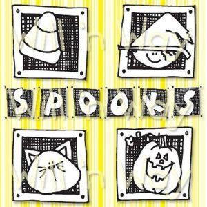 "Spooks Squares, 4x4"""