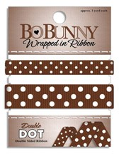 Double Dot Ribbon - Chocolate