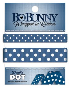 Double Dot Ribbon - Dark Denim