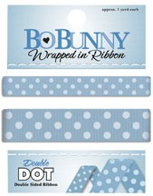 Double Dot Ribbon - French Blue