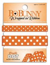 Double Dot Ribbon - Orange Citrus