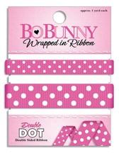 Double Dot Ribbon - Pink Punch