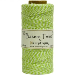 Bakers Twine - Lime/White