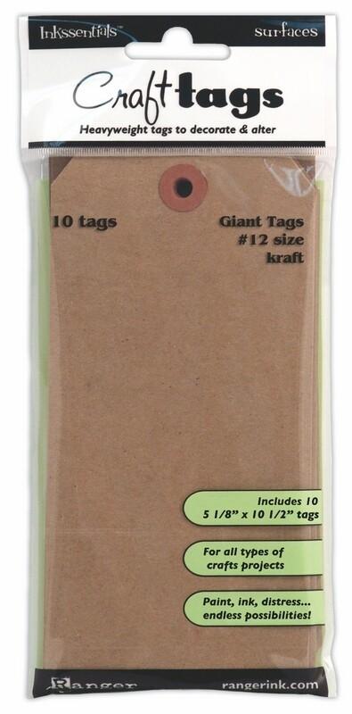Kraft Giant Tags No. 12