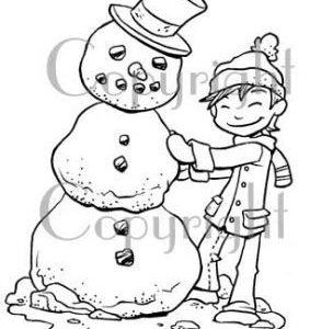 Charlie Building Snowman