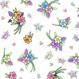 Spring Bouquet/White