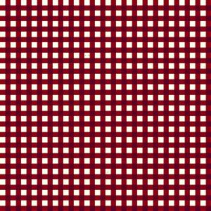 Gingham - Wine on Tan