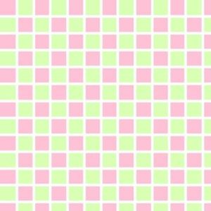 Squares - Grn & Pink