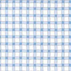 Wavy Line Plaid - Blue