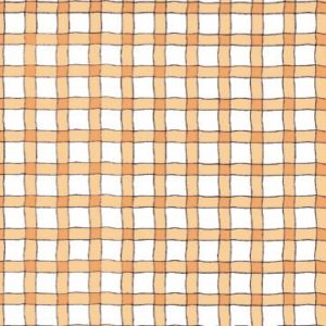 Wavy Line Plaid - Brown