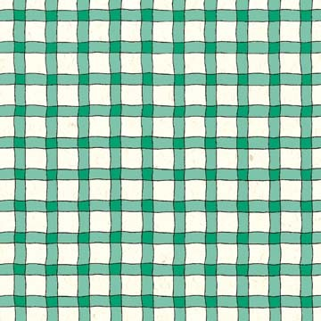 Wavy Line Plaid - Forest