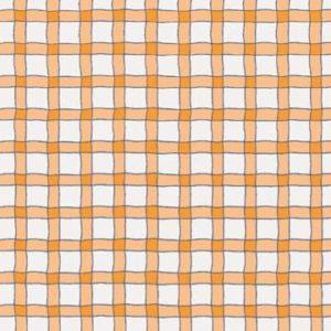 Wavy Line Plaid - Orange