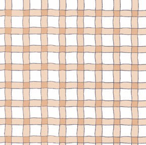 Wavy Line Plaid - Tan