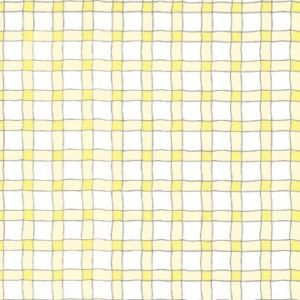 Wavy Line Plaid - Yellow