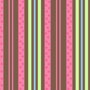 Valentine Stripes on Brown