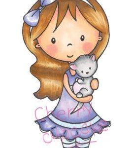 Mia with Kitten