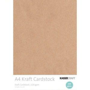 20x Kraft Cardstock A4