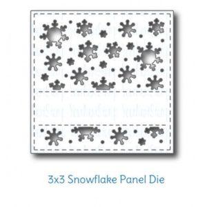 3 x 3 Snowflake Panel Die