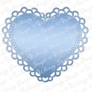Double Scallop Heart Doily