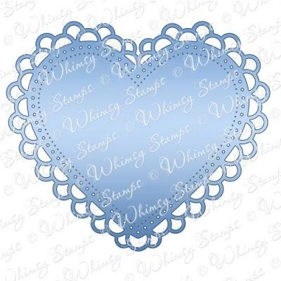 Double Scallop Heart Doily