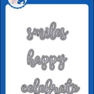 Word Dies - Smiles - Happy - Celebrate