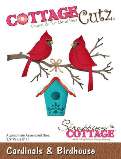 Cardinals & Birdhouse