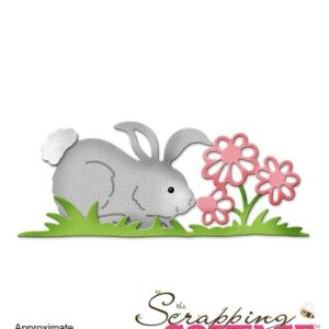 Spring Bunny with Flowers