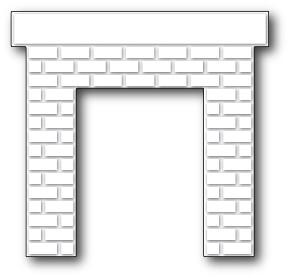 Classic Brick Fireplace