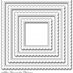 Stitched Scallop Edge Frames Square