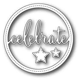 Stitched Celebrate Circle Frame
