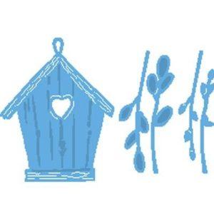 Willow Cats & Birdhouse